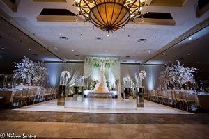 Decor for elegant wedding ceremony
